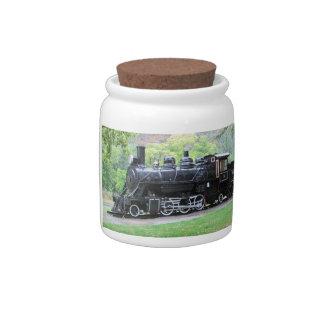 Old Retired Train Engine Candy Jar