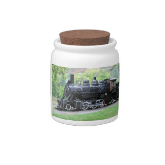 Old Retired Train Engine Candy Jars