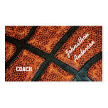 Old Retro Basketball Autographed Coach Business Card