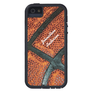 Old Retro Basketball Pattern With Name iPhone 5 Covers