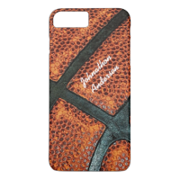 Old Retro Basketball Pattern With Name iPhone 7 Plus Case