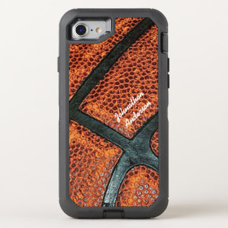 Old Retro Basketball Pattern With Name OtterBox Defender iPhone 8/7 Case