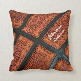 Old Retro Basketball Pattern With Name Throw Pillow