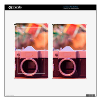 Old retro camera kindle fire decal