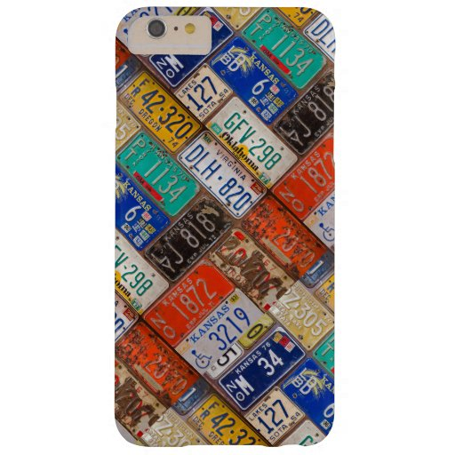 Old retro car license plates barely there iPhone 6 plus case