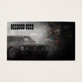 Classic car business cards templates zazzle old retro muscle classic car business card reheart Choice Image