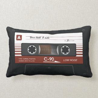 Old Retro Music Cassette Mix Tape Lumbar Pillow