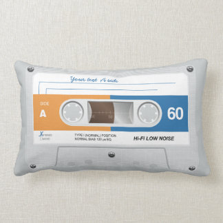 Old Retro Music Cassette Mix Tape Pillows
