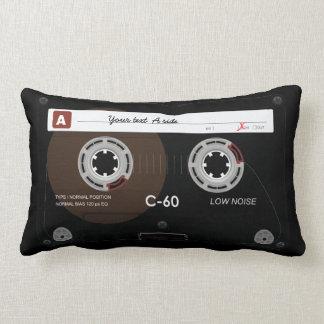 Old Retro Music Cassette MixTape Lumbar Pillow