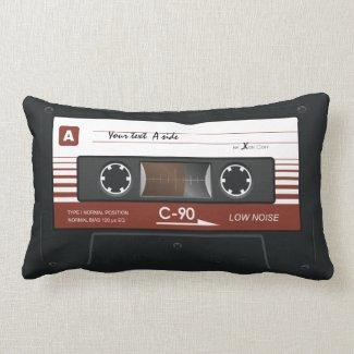 Old Retro Music Cassette MixTape Pillow throwpillow