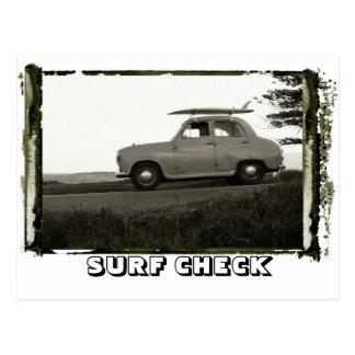 OLD RETRO SURF CAR POSTCARD