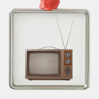 Old Retro TV Metal Ornament