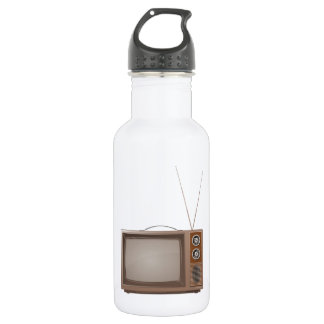 Old Retro TV 18oz Water Bottle