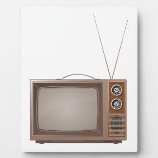 Old Retro TV Display Plaques