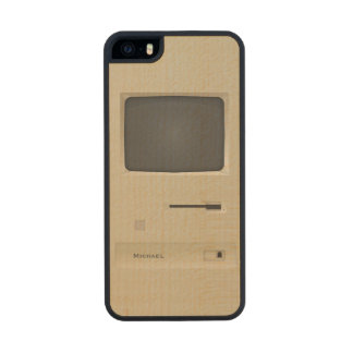 Old Retro Vintage PC Computer Carved® Maple iPhone 5 Case