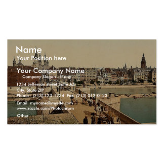 Old Rhine Bridge (i.e. Old Main Bridge) and town, Double-Sided Standard Business Cards (Pack Of 100)