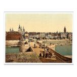 Old Rhine Bridge (i.e. Old Main Bridge) and town, Postcard