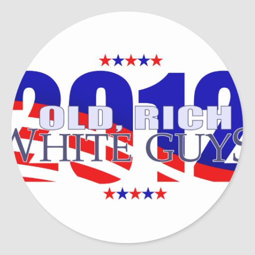 Old Rich White Guys 2012 Stickers