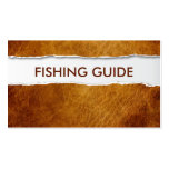 Old Ripped Paper Fishing Guide Business Card