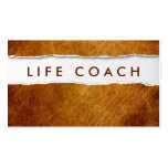 Old Ripped Paper Life Coach Business Card