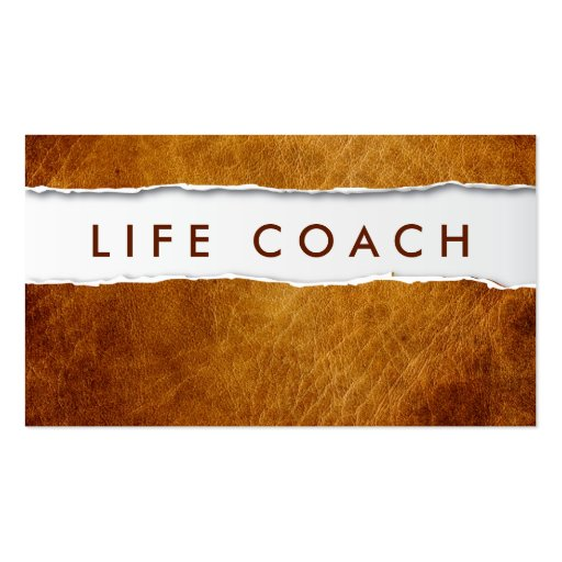 Old ripped paper life coach business card zazzle for Life coaching business cards