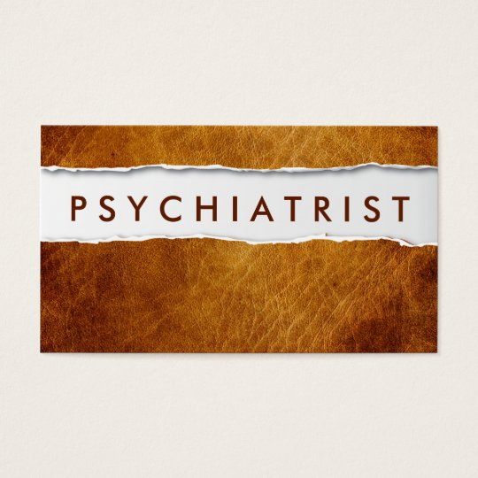 Old Ripped Paper Psychiatrist Business Card