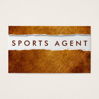 Old Ripped Paper Sports Agent Business Card