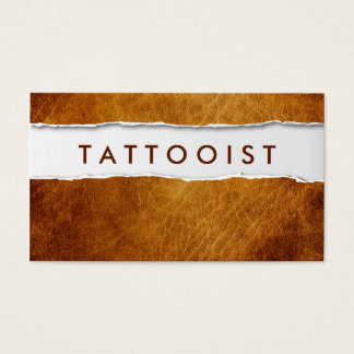 Old Ripped Paper Tattoo Art Business Card