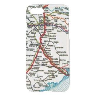 Old Road Map Dallas, Houston, and Austin iPhone 7 Case