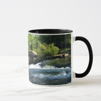Old Rock Dam and Waterfall Mug
