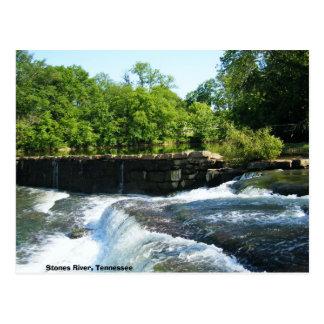 Old Rock Dam and Waterfall Postcard