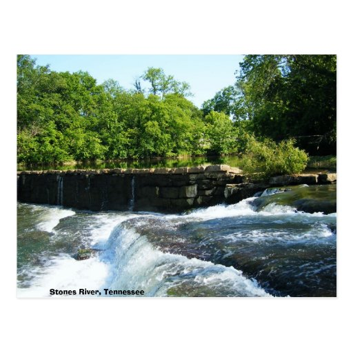 Old Rock Dam and Waterfall Postcards