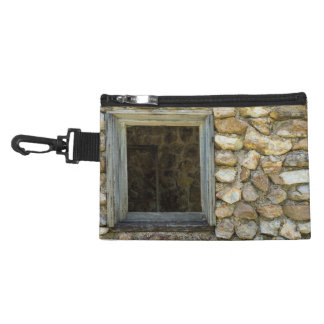 Old Rock Wall Window Accessory Bag