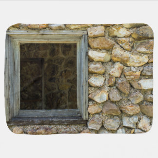 Old Rock Wall Window Receiving Blanket
