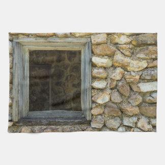 Old Rock Wall Window Towel