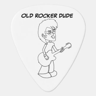 Old Rocker Dude Guitar Pick