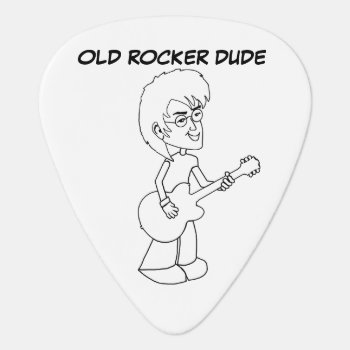 Old Rocker Dude Guitar Pick by oldrockerdude at Zazzle
