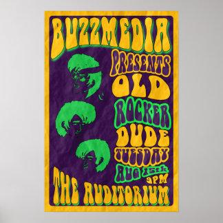 Old Rocker Dude Promotional Concert Poster