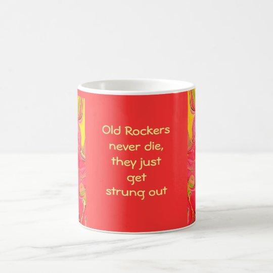 old rockers never die coffee mug