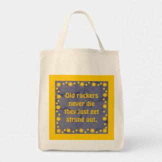 old rockers never die tote bag