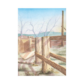 Old Rodeo Grounds Canvas Print