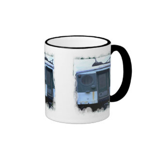 Old rolling stock ringer coffee mug