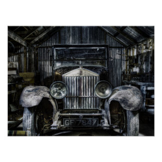 Old Rolls Royce Poster