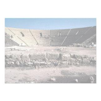 Old Roman amphitheater Caesaria Israel Invitations
