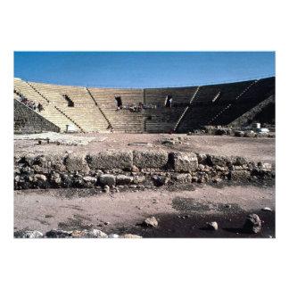 Old Roman amphitheater Caesaria Israel Invite