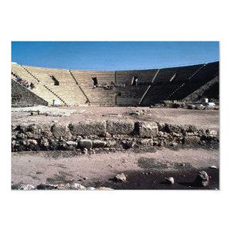 "Old Roman amphitheater, Caesaria, Israel 5"" X 7"" Invitation Card"