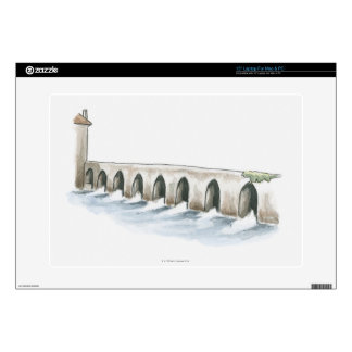 Old Roman Bridge Laptop Skin