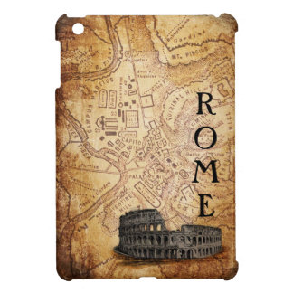 Old Rome Map and Colosseum Cover For The iPad Mini