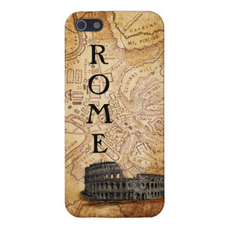Old Rome Map and Colosseum  iPhone 5 Case