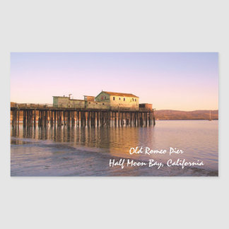 Old Romeo Pier - Half Moon Bay Ca Sticker